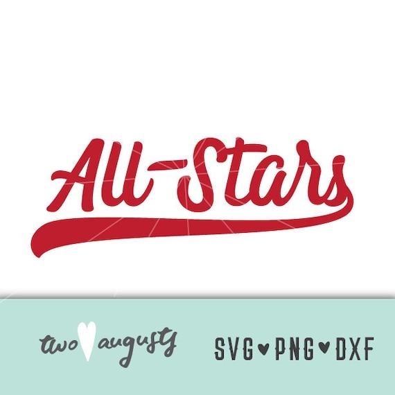 All Stars Svg Dxf Png Baseball Softball Files Cricut Etsy