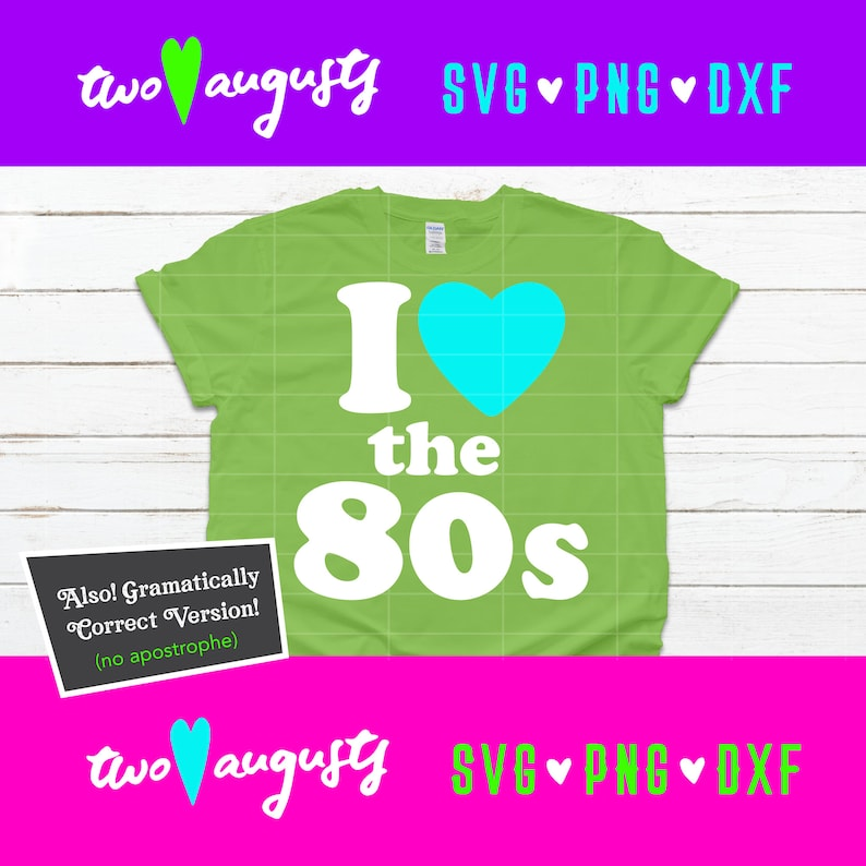 2073+ I Love 80S Svg by CalaDesign
