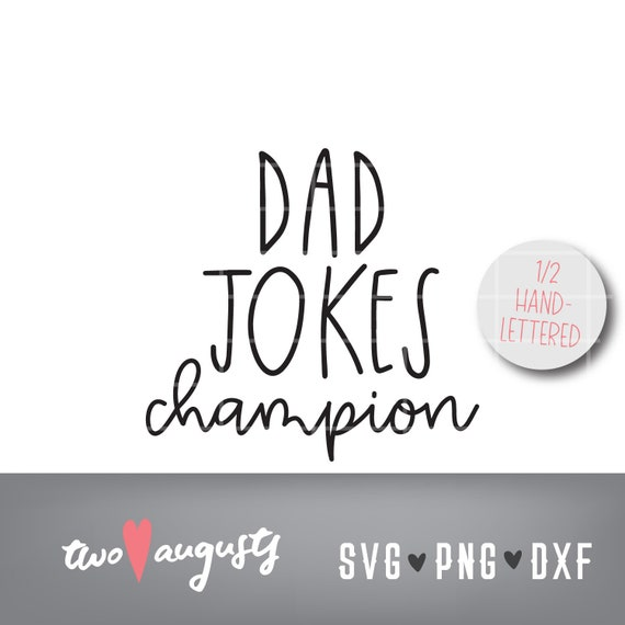 Dad Jokes Champion Hand Lettered Tall Skinny Slim Farmhouse Etsy
