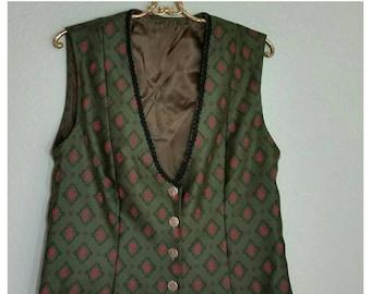 Women's Vest, Brocade Vest, Large