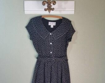 Bichon by Sara Edwards, Polka Dot Dress, Early 90s, Size 10