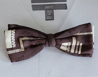 Vintage Clip On Bow Ties set of 2 Ever Grip Silk Bow Tie Vintage Wembley Bow Tie Silk