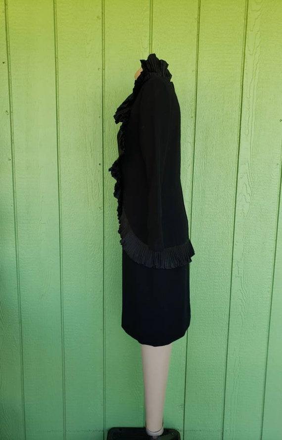 Vintage Avant Garde Couture Black Cocktail Dress … - image 4