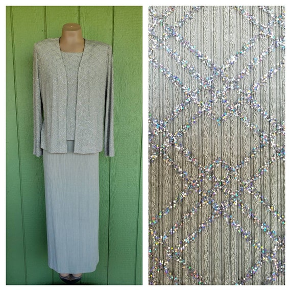 Vintage Pale Green Evening Gown With Matching Jack