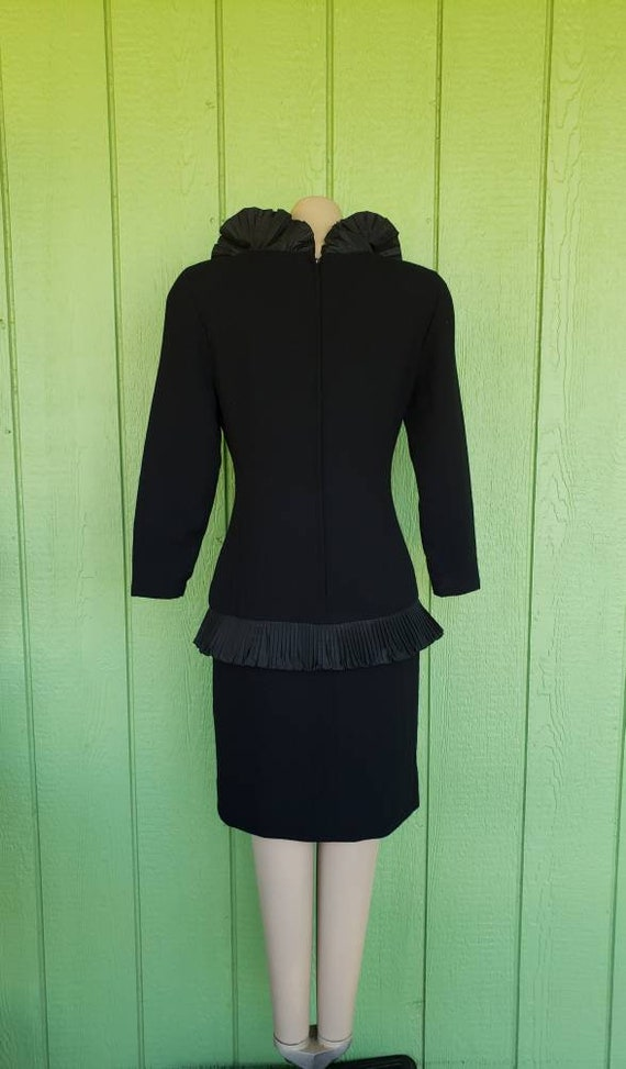 Vintage Avant Garde Couture Black Cocktail Dress … - image 5