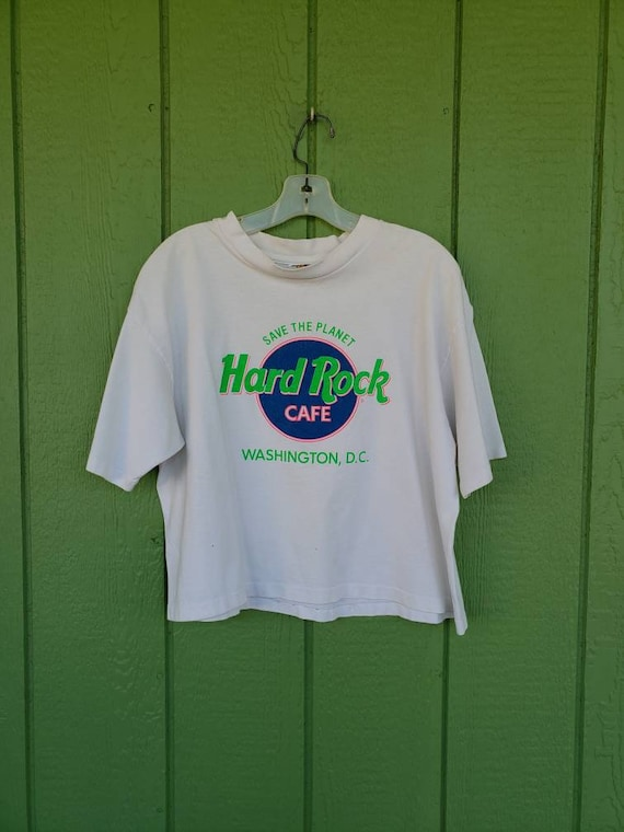 Vintage 1990's Hard Rock Cafe Crop Top Washington