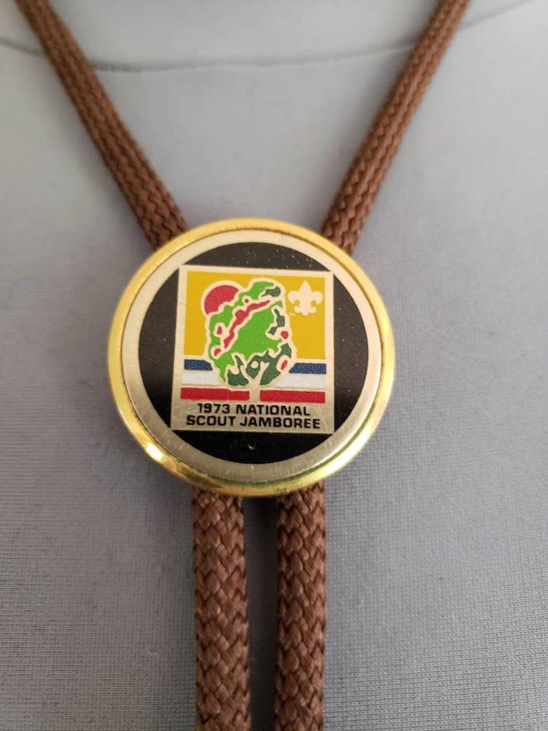 Jamboree Scout Bolo Tie Boy Scout Bolo Tie Vintage 1973 International Scout Jamboree Bolo Tie