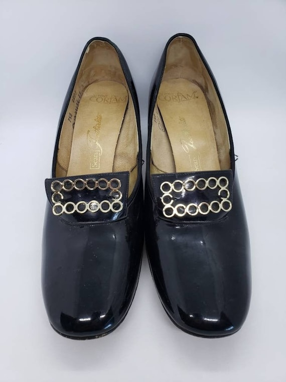 Vintage 1960's Loafers, Patent Leather Loafer, Pil