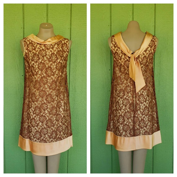 Vintage 1960's MODE O DAY Lace Cocktail Dress   Cl