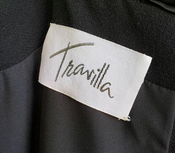 Vintage Avant Garde Couture Black Cocktail Dress … - image 7