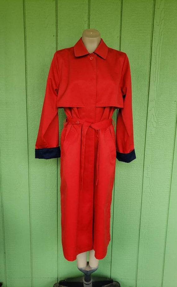 Vintage Red Overcoat, Trench Coat by Neil Martin,