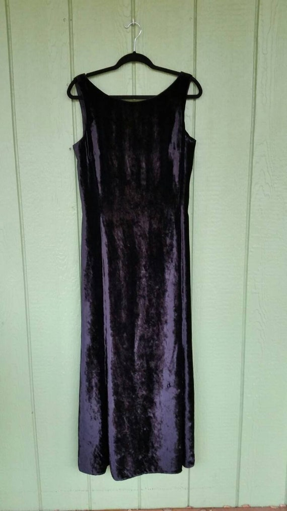 Vintage Velvet Evening Gown, Sexy Evening Gown, Bl