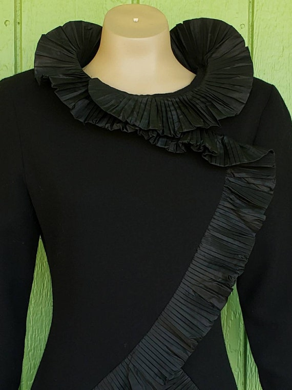 Vintage Avant Garde Couture Black Cocktail Dress … - image 2