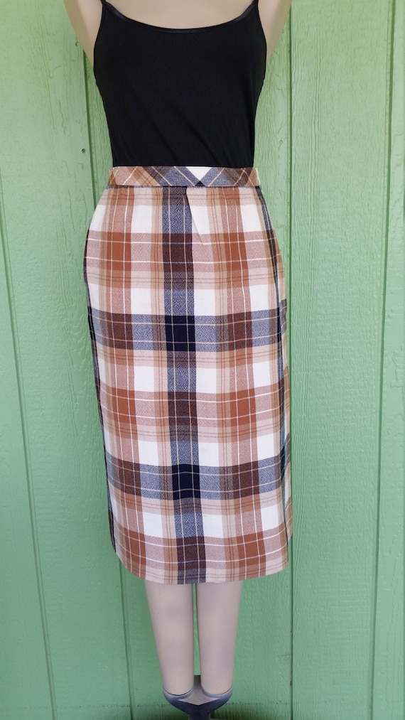 Vintage Plaid Wool Skirt By Dalton, 1970's Plaid Wiggle Skirt, Straight Skirt, Pencil Skirt, Rockabilly Skirt, Size by Etsy