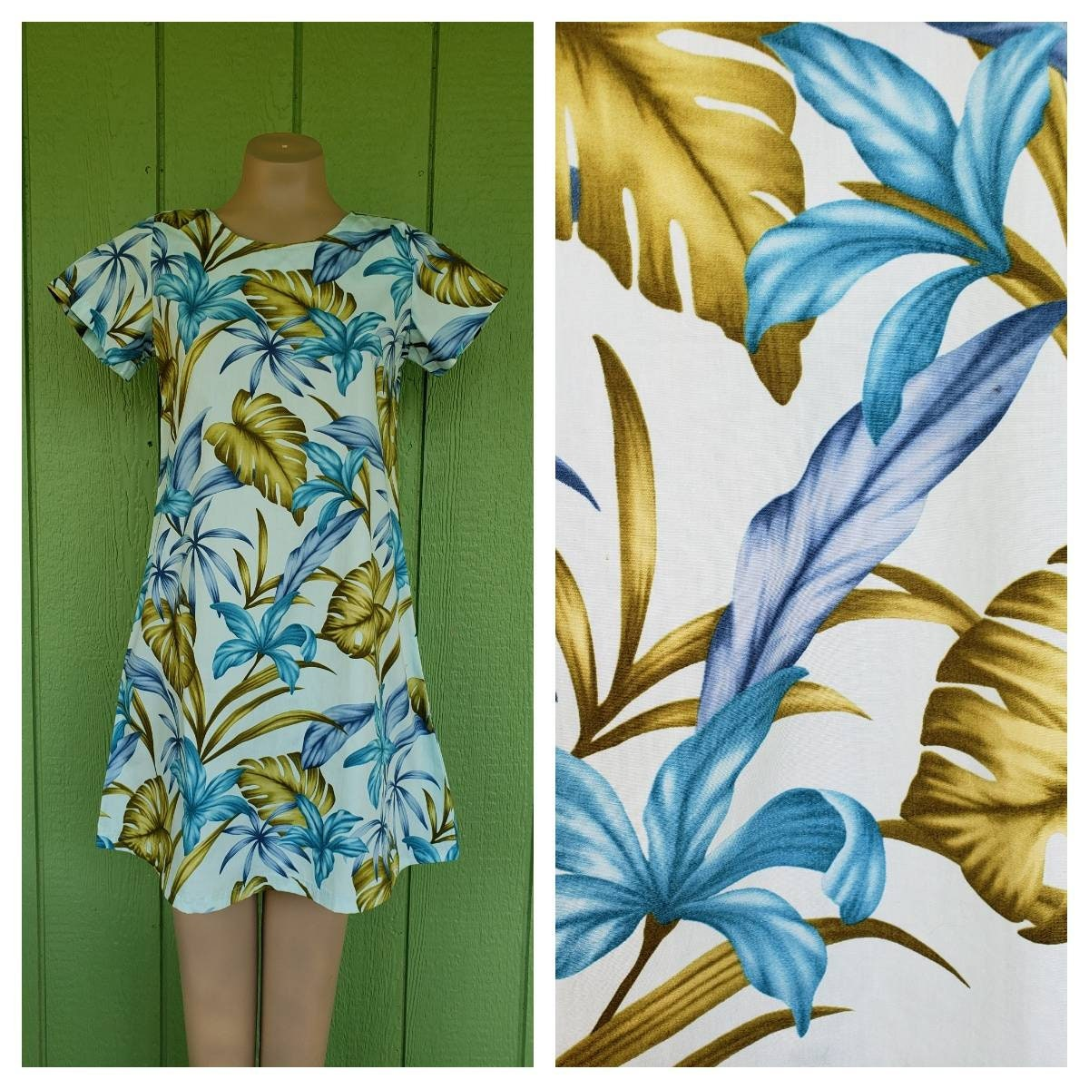 80s Dresses | Casual to Party Dresses Vintage 80s Short Sleeve Hawaiian Print Dress By Bishop Street Apparel $7.00 AT vintagedancer.com