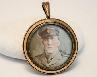 World War 1 sweetheart locket. World War 1.  Antique locket. Antique jewellery