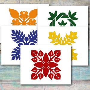 Christmas Decor Hawaiian Christmas Stocking Pattern Mantle Decoration Breadfruit Ulu Quilt Pattern and Tutorial DIY Instant Download