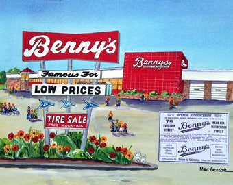 Benny's Department Store Closing Art Print in the RI,CT,MA area