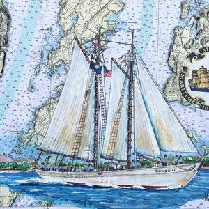 Mass Maritime Academy Art Print TS Kennedy Cape Cod Canal Bourne Bridge Gift MA