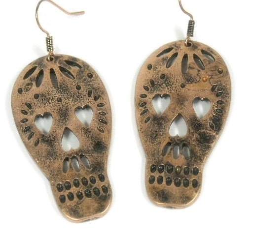 Sale|,Sugar,Skull,Earrings,-,Stamped,Cut,Out,Dangle,Jewelry,Native,Day,of,the,Dead,Dia,de,los,Muer,sugar_skull_earrings,sugar_skull_dangle,sugar_skull,day_of_the_dead,Dia_de_los_Muertos,native_american,stamped_skull,skull,skull_earrings,cut_out_skull,copper_skull,skull_dangle,tt_tpt_123_punks,copper