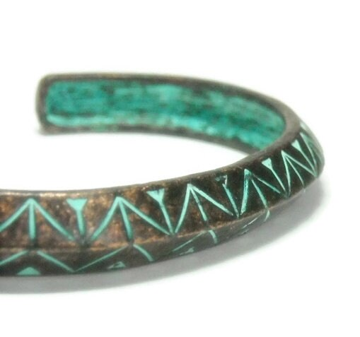 Aztec,Cuff,Bracelet,,Verdigris,Patina,,Southwest,Tribal,Bangle,Stacking,Rustic,,Art,Deco,,Stackable,,Minimalist,,Bronze,,Turquoise,Jewelry,Bracelet,cuff_bracelet,bangle_bracelet,verdigris_patina,bronze_patina,aztec_tribal_cuff,stacking_stackable,rustic_jewelry,bohemian_boho,southwest_cowgirl,gift_for_her,etched_stamped,black_friday_cyber_m,geometric,patina,metal