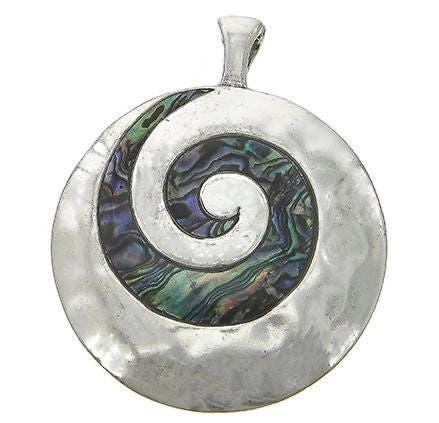 Abalone,Swirl,Magnetic,Pendant,Abalone Swirl Magnetic Pendant, Interchangeable Clip On Magnetic Pendant, Round Abalone Shell Magnetic Pendant, Necklace Pendant, Sea Theme, Jewelry Supplies, Removable Pendant, DIY_Necklace, Ocean Theme, Instant Necklace