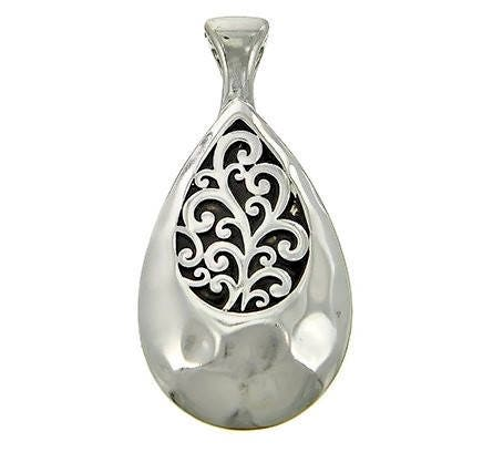 Teardrop,Filigree,Magnetic,Pendant,Silver Teardrop Filigree Magnetic Pendant, Interchangeable Clip On Magnetic Pendant, Instant Necklace Pendant, Jewelry Supplies, DIY Necklace, Instant Necklace