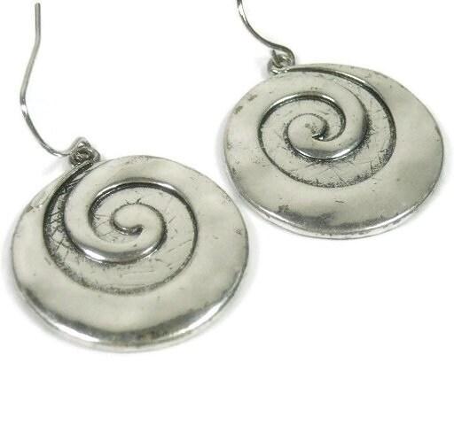 Swirl,Earrings,-,White,Brass,Dangle,Silver,Circle,Every,Day,Earring,Art,Deco,Hippie,Bohemian,Jewelry,Boho,Modern,bohemian_earrings,bohemian_jewelry,dangle_earrings,art_deco_jewelry,hippie_earrings,boho_chic_earrings,boho_jewelry,white_brass,silver_earrings,circle_earrings,swirl,every_day_earrings,mod_modern
