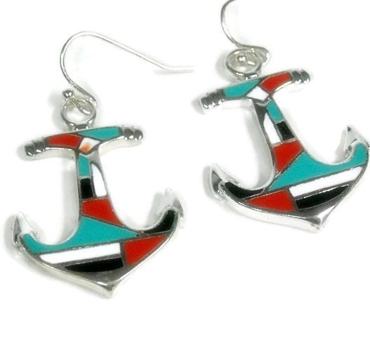 Sale|,Anchor,Earrings,,Jewelry,,Red,,Black,,Turquoise,Inlay,,Nautical,Beach,Summer,,Boating,,Dangle,Earrin,Jewelry,Earrings,anchor_earrings,anchor_jewelry,nautical_earrings,sea_life,nautical_jewelry,summer,beach,boating_sailing,anchor,inlay_anchor,red_black_white,turquoise,dangle_drop_anchor,anchor pendants,silver plated ear wires