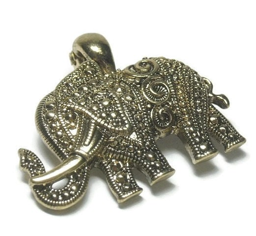 Gold,Magnetic,Elephant,Pendant,Gold Elephant Pendant, Clip On, Magnetic Elephant Pendant, Symbolic Animals, Safari, Removable, Gold, Interchangeable, Luck, DIY Jewelry Supplies