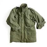 Vintage 1960s NATO M-65 Army Field Jacket Parka / Olive Green Tactical Coat w/ Liner - Size MEDIUM