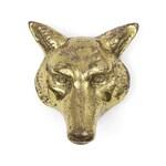 Vintage Brass Fox / Wolf / Coyote Head Door Knocker
