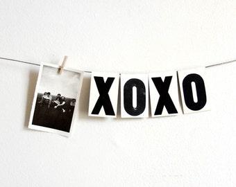 vintage medium white metal hanging letters