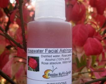 Rosewater Facial Toner or Rosewater Elderflower Facial Toner, Cleanse, Mist, Tone Skin, Glycerin, Aloe vera, Witch Hazel