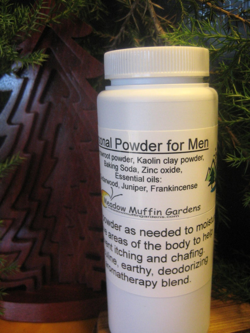 Men's Body Powder,Private Parts, Feet, Chafing, Sweating, Moisture,  Aromatherapy