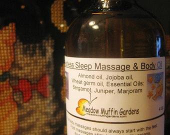 Massage, Reflexology or Body Oil, Restless Mind, Restless Sleep