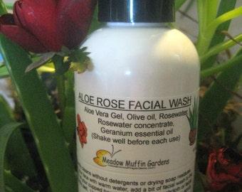 Facial Wash, Cleansing Oil, Aloe Vera Rosewater Soapfree Wash, Makeup remover, Sensitive Skin