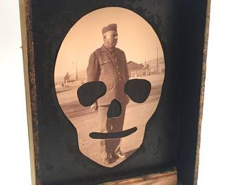 DEAD MAN STANDING [ assemblage by Dan Levin ]