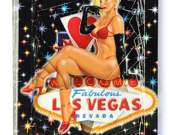 Lonely Heart No.201541 Las Vegas Lady / altered playing card deck / paper sculpture