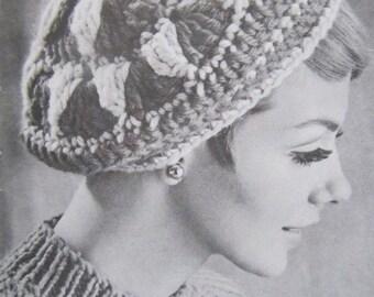 Crocheted Hat Pattern - Vintage PDF Pattern, Crochet Beret Pattern 118n