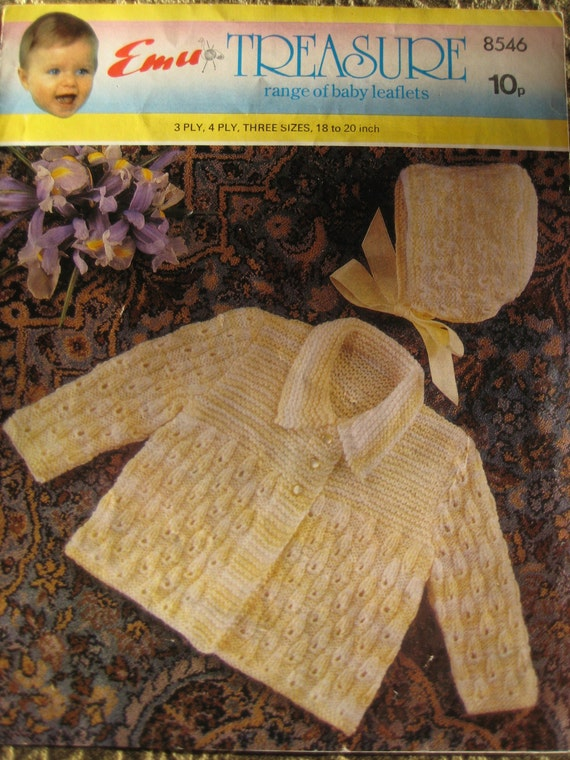 Hat /& Bootees Dress PDF digital download gift for new mum baby 14-18 inch Knitting Pattern Coat baby set