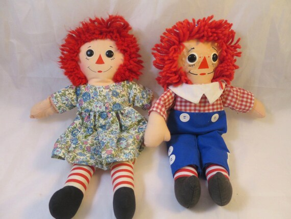 "Raggedy Ann /& Andy 12/"" Dolls Genuine New with Tags"