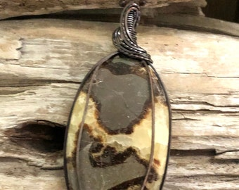 Septarian Pendant Necklace