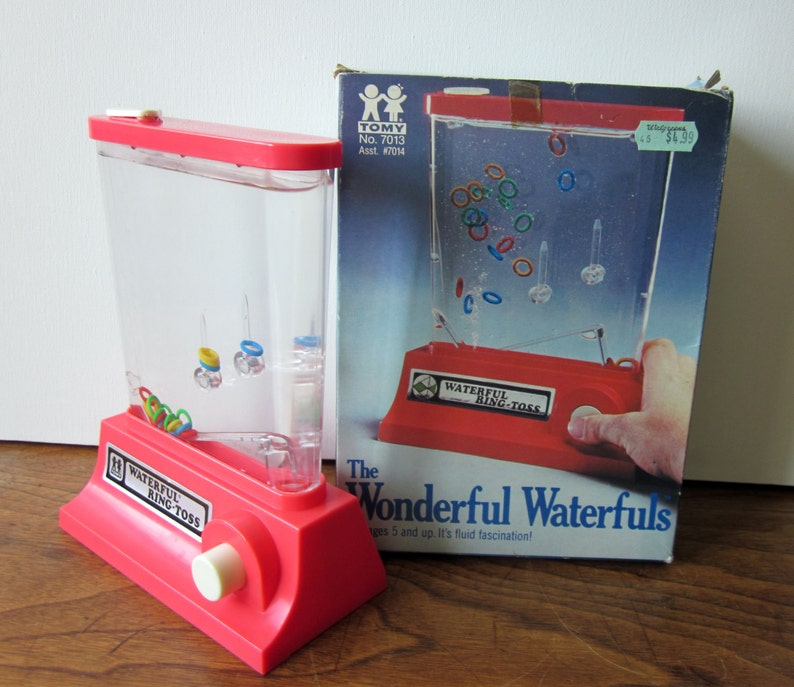 80s toys - Tomy Wonderful Waterfuls Ring Toss Water Game with Box