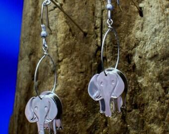 Silver Elephant Earrings, Elephant Jewellery, Eles, Animal Jewelry, Handmade, Wildlife Jewelry, Wildlife gifts, Elephants, Elephant Gifts.