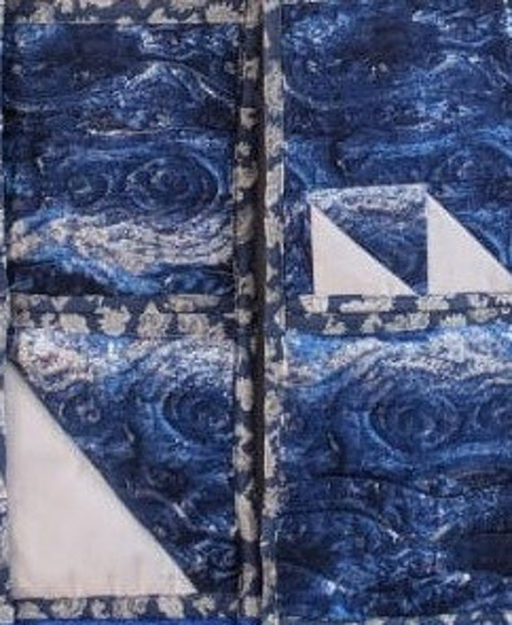 I saw 3 ships come sailing in cushion cover.