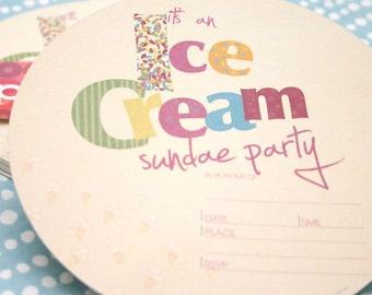 Ice Cream Sundae Printable INVITE