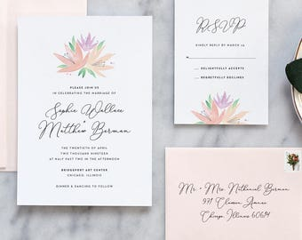 Romantic Floral Wedding Invitation - Deposit Payment