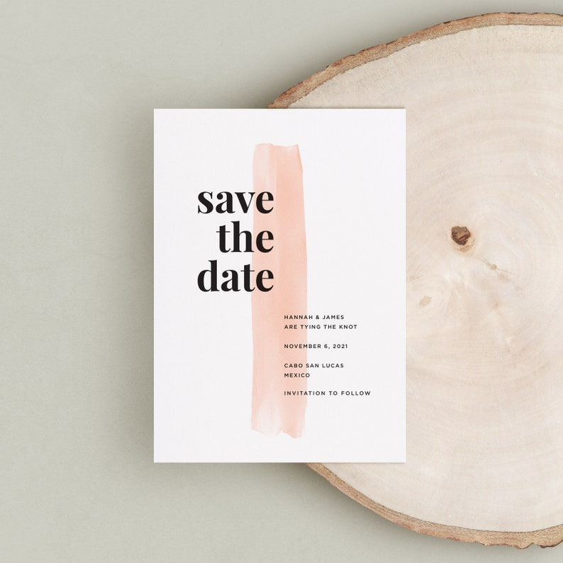 Bold Save the Date Minimalist Save the Date Printed Save the Date Save the Date Modern Save the Date