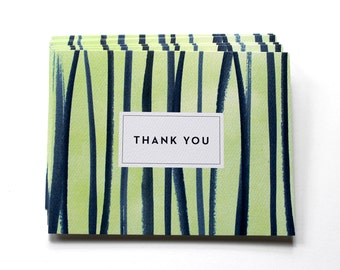 Watercolor Thank You Notes - Set of 6 - Stripes